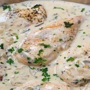 Κοτόπουλο αλα κρεμ