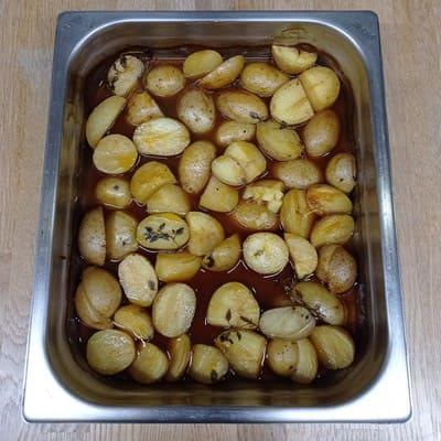Γαλλικές πατάτες με θυμάρι και ντεμι γκλας