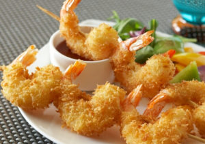 Γαρίδες tempura παναρισμένες με panco