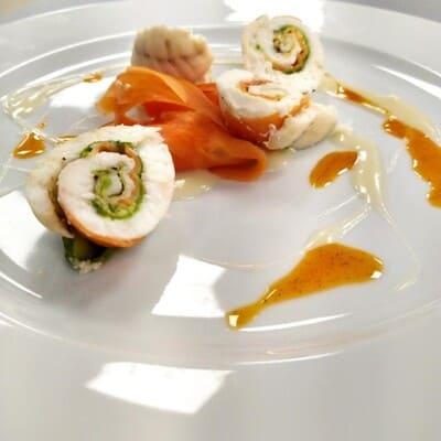 Ποπιέτα γλώσσας με σάλτσα βελουτέ ψαριού