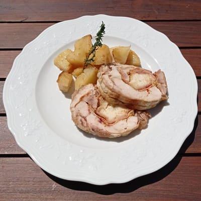 Κοτόπουλο ρολό με πατάτες