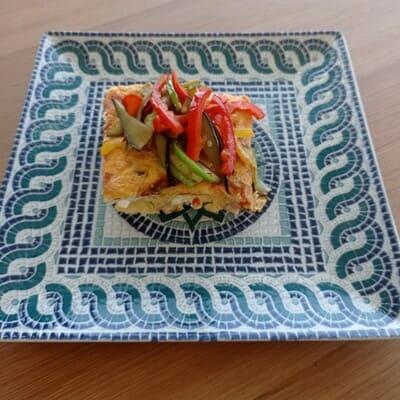 Ομελέτα φούρνου με πιπεριές και φέτα